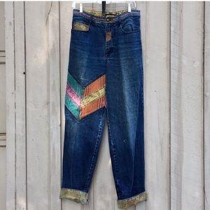 Vintage Major Damage 90s Patchwork Mom Jeans